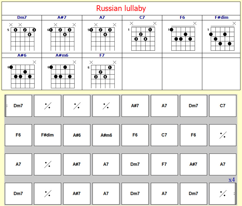 Accords Russian Lullaby